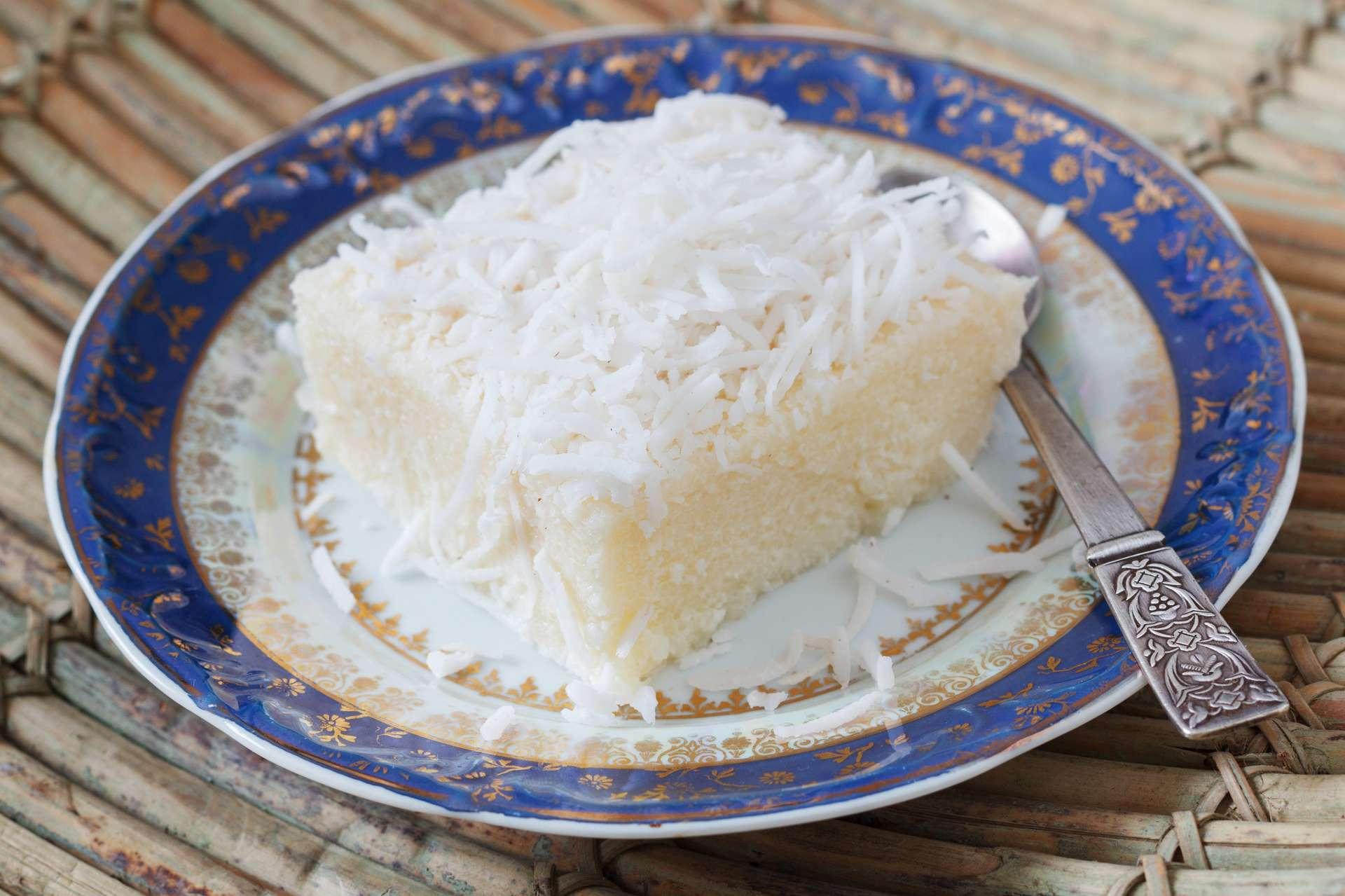 Schneller Kokosnusscreme Kuchen
